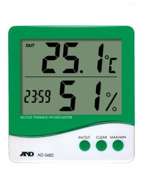 時計付温湿度計 AD-5682