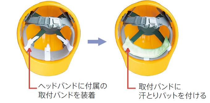 汗取りパットA-2(ヘルメット用)