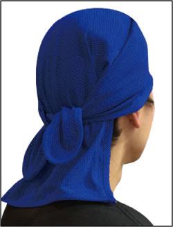 COOL CORE 頭カバー 着用例(ブルー)